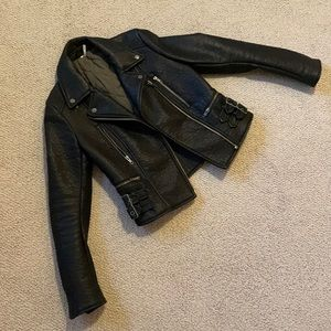 Free People Soft Shell Leather Jacket